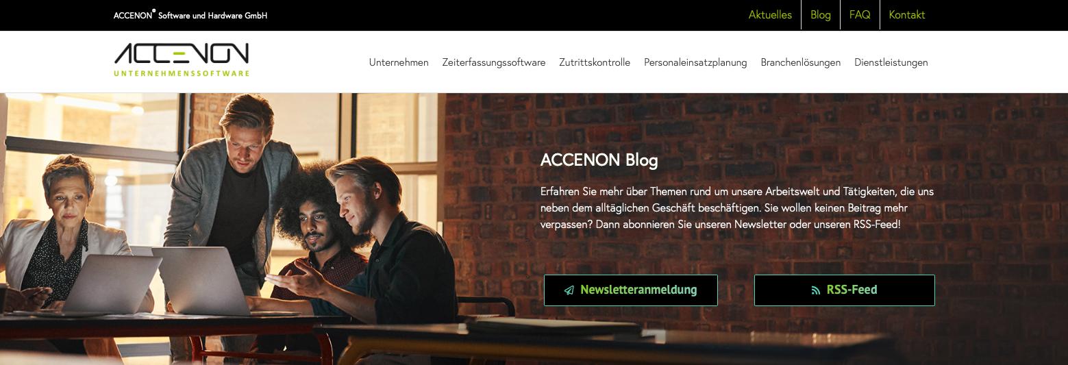 RSS Feed einbinden - ACCENON Blog