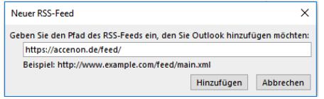 RSS-Feed hinzufügen_Outlook