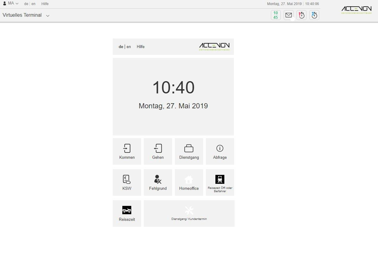 Mobile Zeiterfassung_Webportal_Virtuelles Terminal